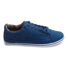 Trendiga höga sneakers TL345 Navy marinblå