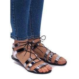 Meliski PT-9126 svarta sandaler