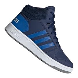 Marinblå Adidas Hoops Mid 2.0 Jr EE6707 skor