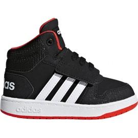 Svart Adidas Hoops Mid 2.0 I Jr B75945 skor