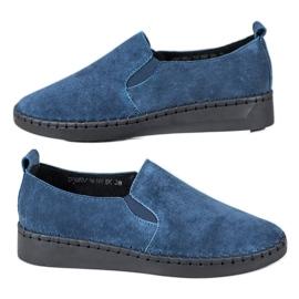 Filippo blå Läder Sneakers Slip On