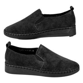 Filippo svart Läder Sneakers Slip On
