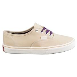 SHELOVET brun Bekväma sneakers