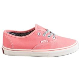 SHELOVET rosa Bekväma sneakers