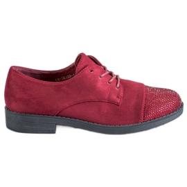Best Shoes röd Låga skor med kristaller