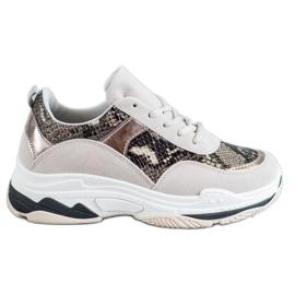 Kylie flerfärgad Snake Print sneakers