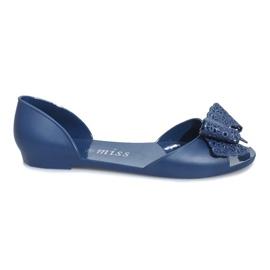 Marinblå Mörkblå melissa sandaler med Delmar-båge