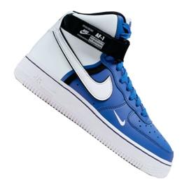 Nike Air Force 1 High LV8 2 Jr CI2164-400 skor vitblå
