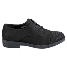 Best Shoes svart Låga skor med kristaller
