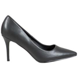 Diamantique svart Nålar med Eco-läder