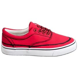 Bestelle röd Träiga sneakers