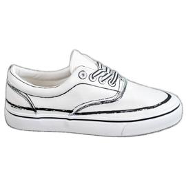 Bestelle vit Träiga sneakers