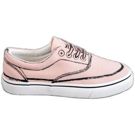 Bestelle rosa Träiga sneakers