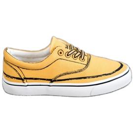 Bestelle gul Träiga sneakers