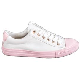 EXQUILY vit Färgglada sneakers