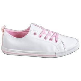 SHELOVET vit Bekväma sneakers