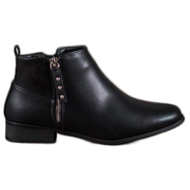 Cm Paris svart Låga fotled med Eco-läder