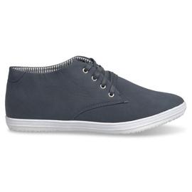 Marinblå Trendiga höga sneakers 3232 Navy