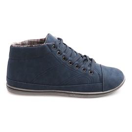 Marinblå Trendiga höga sneakers TL364 Navy