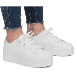 Svart White Platform Sneakers Livet De Lux