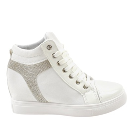 Vita kilsneakers med AN2959 paljetter