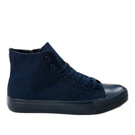 Mörkblå höga sneakers för herrar XN50 marinblå