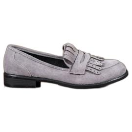 SHELOVET Loafers With Fringes grå