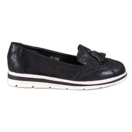 Bestelle Plattform Loafers svart