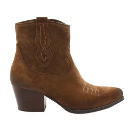 Gamis 3837 mocka cowboystövlar brun