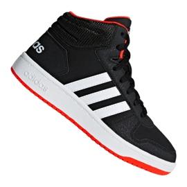 Svart Adidas Hoops Mid 2.0 K Jr B75743 skor