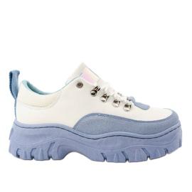 Vita och blå PF5329 damskor för kvinnor