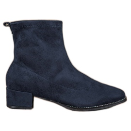 Small Swan blå Slip-on Suede Boots