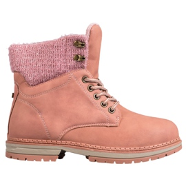 SHELOVET Trappers With Glitter rosa