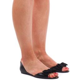 Meliski KM01 svarta sandaler