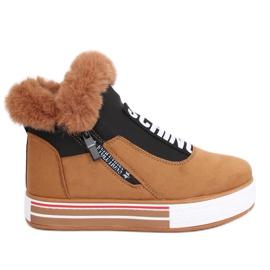 Bruna isolerade sneakers NB311 Camel