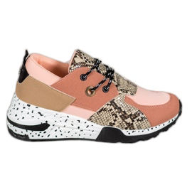 Snake Print VICES sneakers rosa