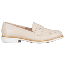 VICES beige moccasins brun