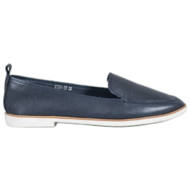 Mazaro Mörkblå läderfodral