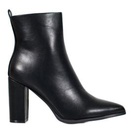 Seastar Läderskor svart