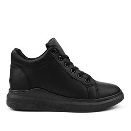 Isolerade svarta sneakers TL133-1
