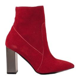 Goodin Sexiga läderskor röd