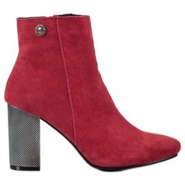 Goodin Ankelstövlar i läder röd