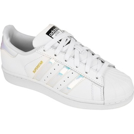 Adidas Originals Superstar Jr AQ6278 skor vit
