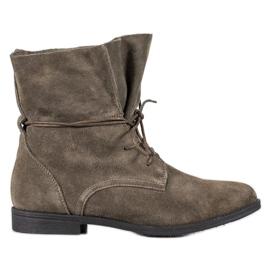 Filippo Klassiska läderskor grå