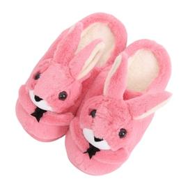 Bunnies kvinnors tofflor mörkrosa MA17 Röd