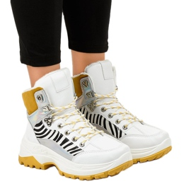 Vita kvinnors isolerade sneakers F-19208-2