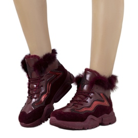 Isolerade vinröd sneakers LS-2062