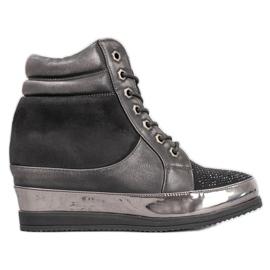 Sergio Leone Sneakers med kristaller svart