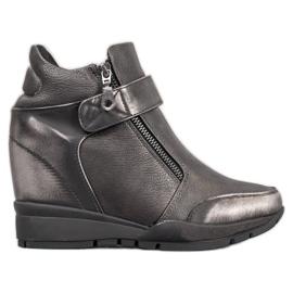 Sergio Leone Sneakers på dragkedjan grå