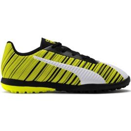 Puma One 5.4 Tt Jr 105662 03 fotbollsskor vit, svart, gul gul